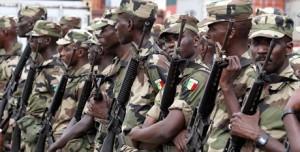 les troupe sénégalaises de maintien de la paix.